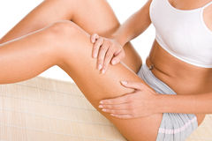 Woman massage Stock Photos