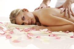 Woman on massage Stock Image