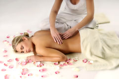 Woman on massage Royalty Free Stock Image
