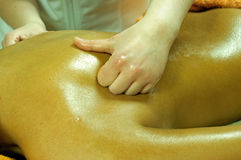 Woman during massage. Photo of woman during massage stock image