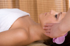 Woman in massage Stock Photos