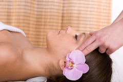 Woman in massage Royalty Free Stock Photography