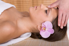 Woman in massage Royalty Free Stock Photo