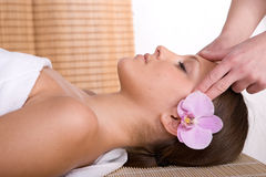 Woman in massage Stock Image