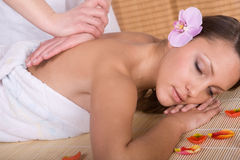 Woman in massage Royalty Free Stock Images