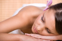 Woman in massage Stock Photo