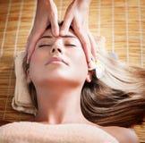 Woman at massage Royalty Free Stock Image