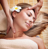 Woman at massage Royalty Free Stock Images