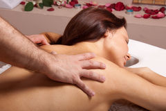 Woman on massage procedure Stock Photo