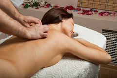 Woman on massage procedure Royalty Free Stock Photo