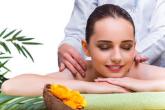 The woman during massage session in spa salon Stock Photos