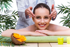 The woman during massage session in spa salon Royalty Free Stock Photography