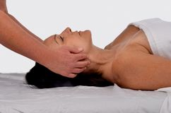 Woman on Massage Table Stock Image