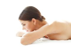 Woman on massage table Stock Photography