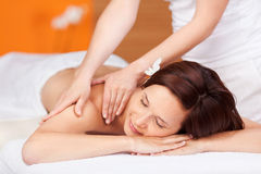 Woman during massage Royalty Free Stock Images