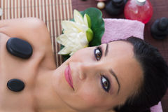 Woman in massages salon Royalty Free Stock Image