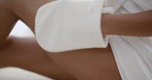 Woman Massaging Leg In Spa Royalty Free Stock Photo