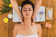 Woman massagist make body massage in spa wellness center Royalty Free Stock Photography