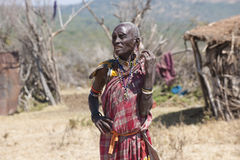 Masai Tribe Woman in Tanzania Stock Photography