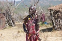 Woman  of the Maasai Tribe in Tanzania Stock Photography