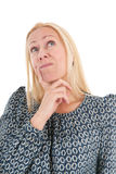 Woman of mature age looking up Royalty Free Stock Photos
