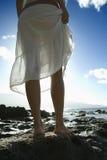 Woman on Maui beach Stock Photography