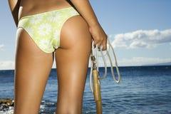 Woman on Maui beach Stock Image