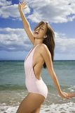 Woman on Maui beach. Royalty Free Stock Image