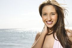 Woman on Maui beach. Royalty Free Stock Images