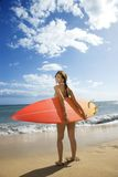 Woman on Maui beach. Royalty Free Stock Photo