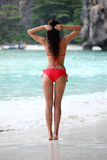 Woman in Maya bay royalty free stock images