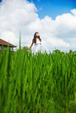 Woman  in a meadow Stock Image