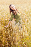 A woman in the meadow Royalty Free Stock Images