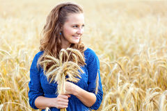 A woman in the meadow Royalty Free Stock Photography