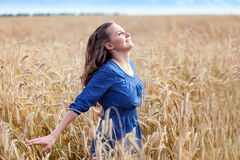 A woman in the meadow Stock Image