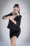 Woman Means Business Stock Images