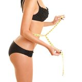 Woman with measure tape Stock Image