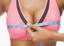 Free Woman Measures A Bust Royalty Free Stock Images - 28095379