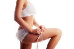Free Woman Measuring Her  Body Stock Photography - 8890162