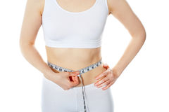 Woman measuring perfect shape Stock Image