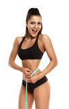 Woman Measuring The Hips Royalty Free Stock Photo