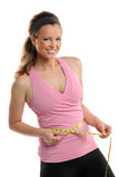 Woman Measuring Waist Royalty Free Stock Photos