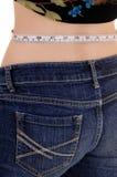 Woman measuring waist. Stock Photos