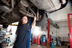 Woman Mechanic Portrait Royalty Free Stock Photography