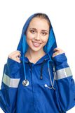 Woman medic with big smile Stock Photo
