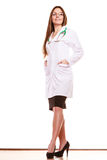 Woman medical doctor with stethoscope. Health care Stock Images