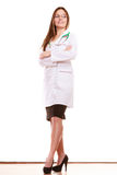 Woman medical doctor with stethoscope. Health care Stock Photos