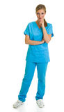 Woman in medical doctor suit Stock Photography