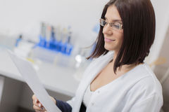 Woman in the medical laboratory Stock Image