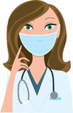 Woman Medical Mask Stock Photo